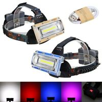 5000lm 30W COB LED Rechargeable USB Headlamp Head Headlight Torch Lamp 3*18650