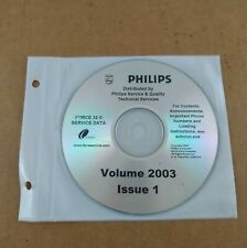 Philips Force 32 Service Data CD Volume 2003 Issue 1