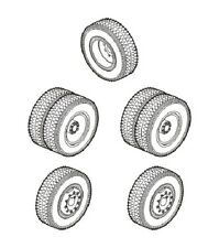 CMK Blitz B72094 1/72 Resin WWII Wheels for a SS100 Gigante (Special Armour Kit)