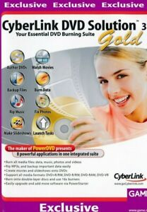Cyberlink DVD Solution 3 Gold - 8 In 1 Suite Video Photo Editing Backup PC (NEW)