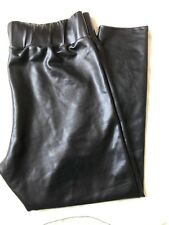 Ladies High Waist BLK Wet Look Shiny Leggings FREE P&P SIZES UK: 20, & 22