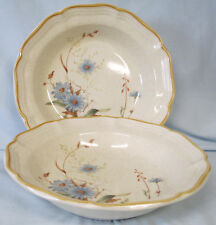 Mikasa EB 804 Blue Daisies Soup or Salad Bowl set of 2