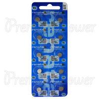 10 x Renata 377 Silver oxide batteries 1.55V SR626SW SR66 376 Watch 0% Mercury