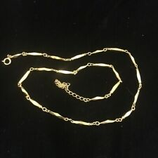 "Nikken Magnetic Therapy Gold Colored Necklace Diamond Cut 19""-21"" N-03"