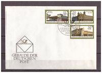DDR, FDC Gebäude der Post MiNr. 3145 - 3147 SSt Berlin 02.02.1988