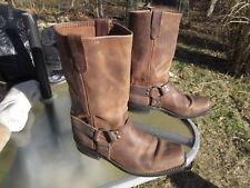Double H 12 inch Brown Leather Harness Boots # 4004 / Us Men 11 D / Pre-owned