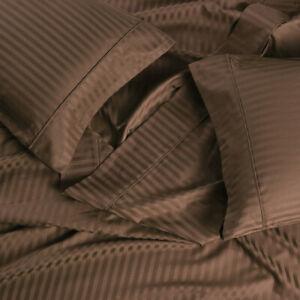 650 Thread Count Sheets Cotton Blend Wrinkle Free Damask Stripe Bed Sheet Set