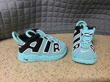 Nike Air More Uptempo Light Aqua Black White Toddler Sz 5C NEW
