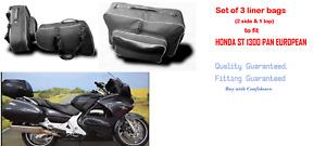 PANNIER LINER SIDE BAGS & TOP BAG FOR HONDA ST 1300 PAN EUROPEAN (PACK OF 3)
