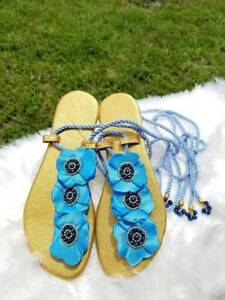 Mini Flowers Rhinestone Sandals, Women's Summer Sandals