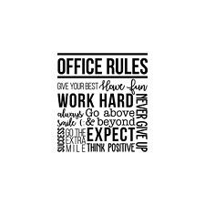 Vinyl Wall Art Decal - Office Rules - 40