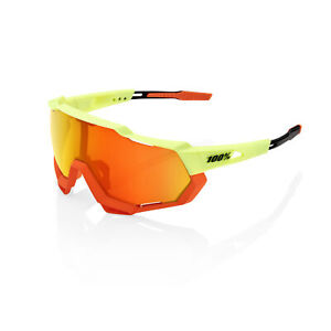 100% Sunglasses SPEEDTRAP - Soft Tact Oxyfire - HiPER Red Multilayer Mirror Lens