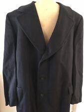 Lux Black HUGHES & HATCHER Heavy Mongolian Cashmere Overcoat XL NOS