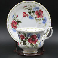 Vintage Royal Albert Bone China Tea Cup & Saucer Poppy August