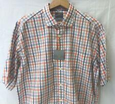 THOMAS DEAN Mens Shirt Button Down Up Blue White STRIPE M L Long Sleeve $125