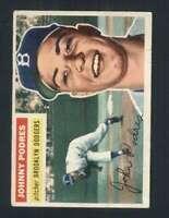 1956 Topps #173 Johnny Podres VG/VGEX Dodgers 94470