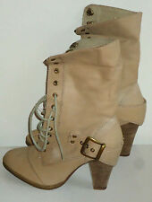 WINDSOR SMITH NudeRealLeatherLaceUpHiSize6NWoT