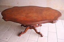 Salontisch Antik Stil Wohnzimmer Ess Tisch Mahagoni Intarsien 174x109cm
