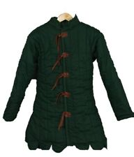 HALLOWEEN Green Medieval Gambeson Jacket Padded Armor SCA LARP WMA Multiple Size