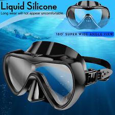 Underwater Diving Cover Scuba Snorkel Goggles AntiFog Silicone Half Face Glasses