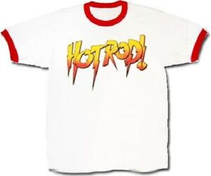 Adult Men's TV Show WWE Rowdy Roddy Piper Hot Rod Wrestling White T-shirt Tee