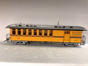 Accucraft 1:20.3 45MM Combine Car D&RGW Bumble Bee Yellow Double Stripe