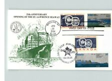 Joint Issue, St. Lawrence Seaway Opening, Canada and United States, Fdc