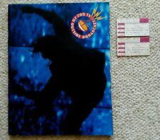 U2 1992 Zoo Tv Tour Usa Concert Program Book, & Two Oct 10 1992 Ticket Stubs