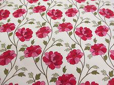 Stunning Cream with Pink Flowers Printed 100% Cotton Poplin Fabric.