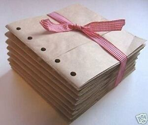 6X6 SEWN  paper bag scrapbook albums 20 books journal 5 holes