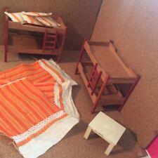 Lundby 1970s Dolls House Furniture Bunk Beds Bundle
