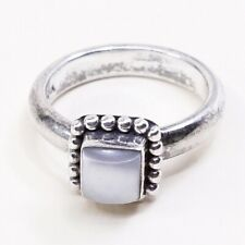 Sz 7, Sold Out Silpada R1617 Sterling silver 925 Handmade Square Pearl Ring