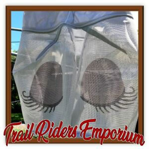 Horse fly Mask - SLEEPY FACE mesh full size horse fly mask with fabric trim