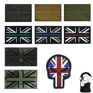 Union Jack Tactical Morale Patch UK Hook & Loop Military PVC Batch Airsoft 3D