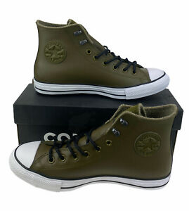 NEW Converse Chuck Taylor All Star Winter Hi Leather Green Shoes Mens Size 10