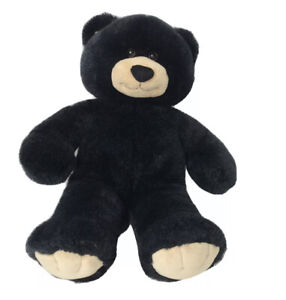 "Build A Bear Dimples 17"" Plush Black Bear Stuffed Animal Toy Log Cabin Decor"