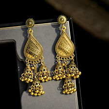 Jhumki Gold Plated Wedding Jewellery Fashion Indian Bollywood Earrings Jhumka