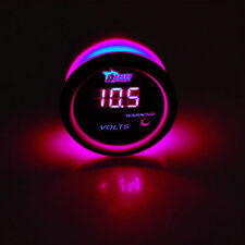 52mm Voltmeter Auto Rot LED Anzeige Digital Batteriespannung KFZ Instrument