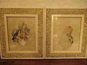Maude Humphrey Victorian Prints Framed