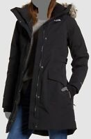 $450 The North Face Women's Black Hooded Parka Waterproof Boroughs Coat Jacket M