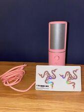 Razer Seiren X - Quartz Pink - USB mic - Rare Stock + pink razer stickers