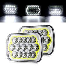 "2X 7x6"" 5x7inch 45W 15LED Headlight Hi/Lo Sealed Beam for Ford F150 250 350"