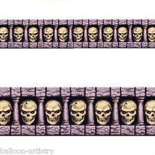 Haunted Halloween Scene Setter Border Roll SCARY SKULLS