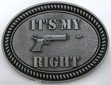 BELT BUCKLES men's western guns pistols accessories IT'S MY RIGHT buckle NWOT!