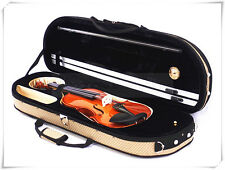 4/4 Violin+Half Moon Case+Bow+Rosin+Free String set-LBR