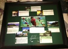 TiGER WOODS UDA Majors Scorecards 44x35 Framed AUTO /100