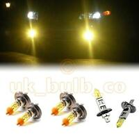 YELLOW XENON HEADLIGHT + FOG BULBS FOR Volvo V70 MODELS H7H7H1