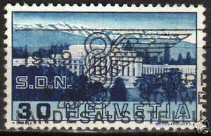 Switzerland 1938 YV 308 plate error BROKEN PILLAR VF
