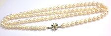 95 cm Perlenkette 585 er Weißgold Schließe Verschluß Perlencollier
