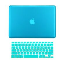 "2 in 1 Rubberized AQUA BLUE Case for Macbook PRO 15"" A1286 with Keyboard Cover"